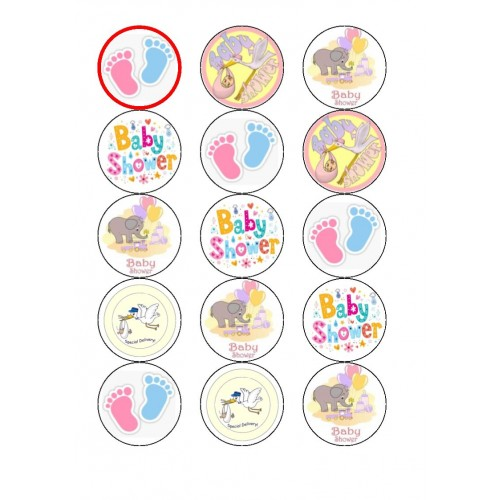 Baby Shower Cupcake Toppers Christening