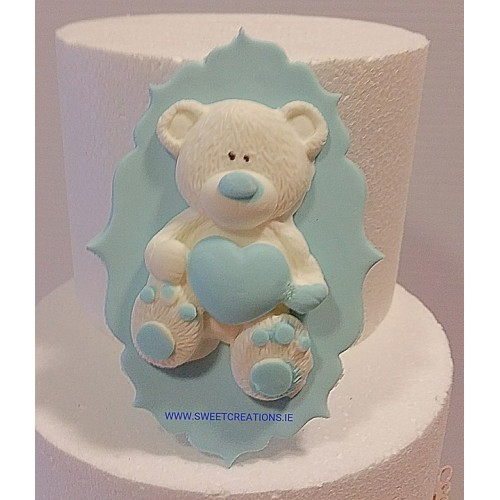 Bear with Heart on Plaque Birthdays/Anniversary