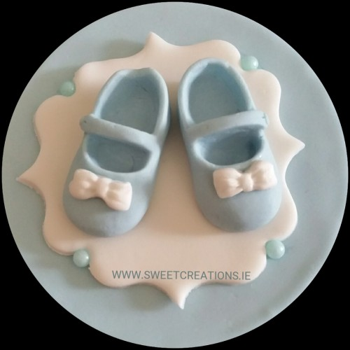Baby Shoe Plaque Christening