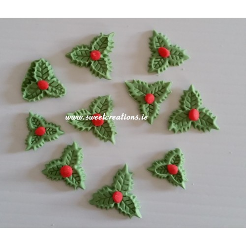 christmas holly cake decorations christmas - Christmas Holly Decorations