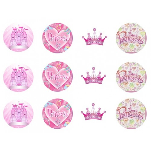 Princess Party Cupcake Toppers Edible Pictures