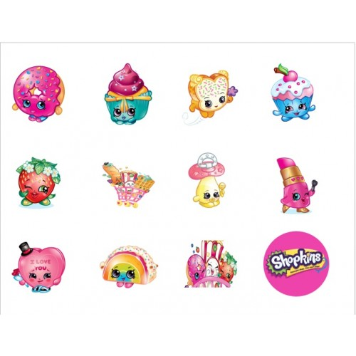 Cupcake Toppers Shopkins  Birthdays/Anniversary