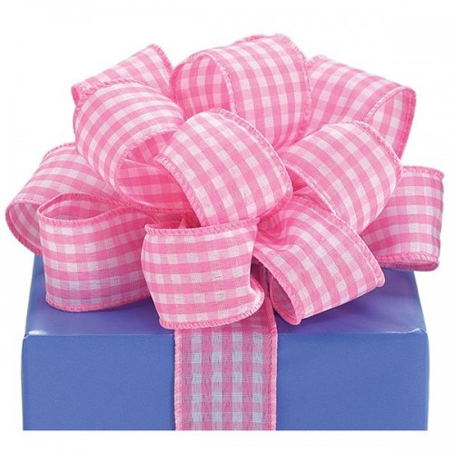 Pink Gingham Ribbon Ribbons and Bows