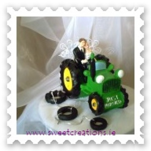 Green Tractor Wedding Cake Topper Weddings