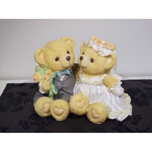 Sitting Bear Wedding Cake Topper Grey Suit Weddings