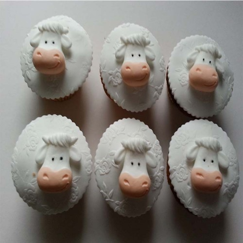 Cow Cupcake Topper Animals/Farm