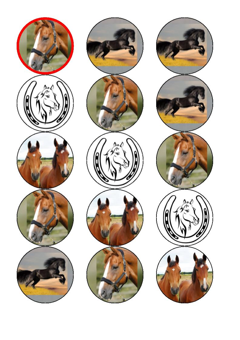 Horse Cupcake Toppers