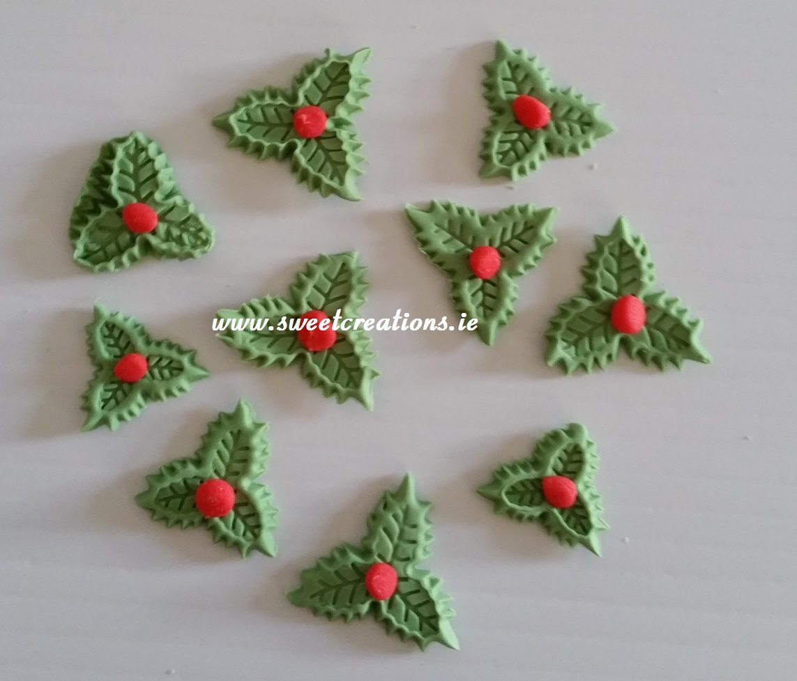 christmas holly cake decorations