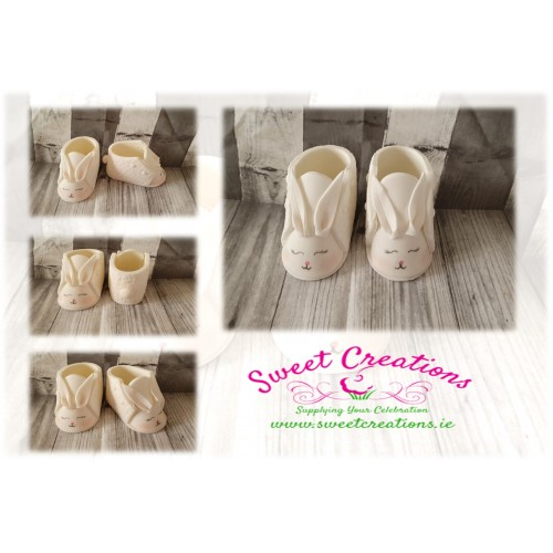 Bunny Baby Booties Christening