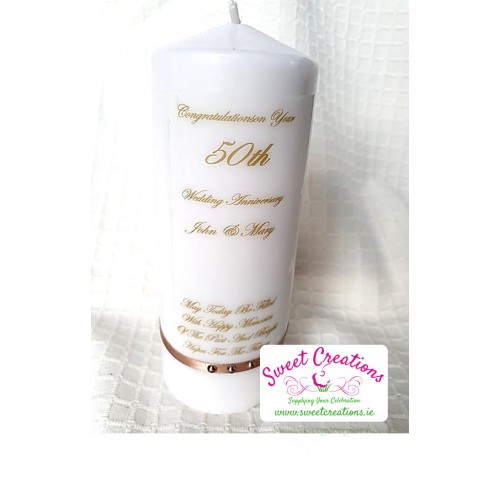 Anniversary Candle personalised