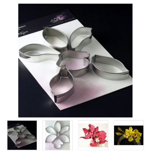 Cymbidium Orchid Botanically Correct Aluminium Metal Cutters Set Of 6 By Robert Haynes Cutters and Veiners
