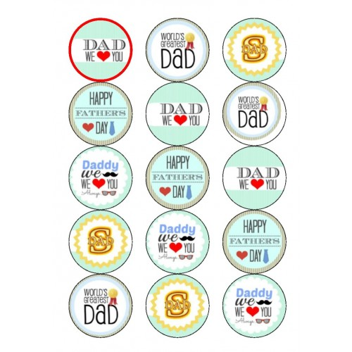 Father's Day Cupcake Toppers Birthdays/Anniversary