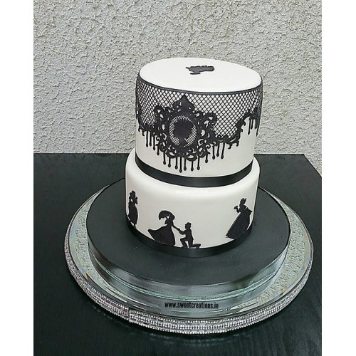 Silhouette Cake Lace