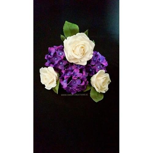 Handmade Wired Rose and Hydrangea Birthdays/Anniversary