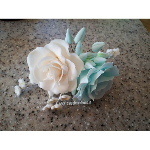 Duck Egg Blue Rose Spray Flowers