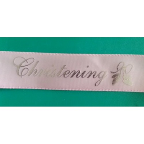 Christening Printed Ribbon