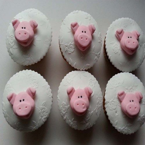 Pig Cupcake Toppers Animals/Farm