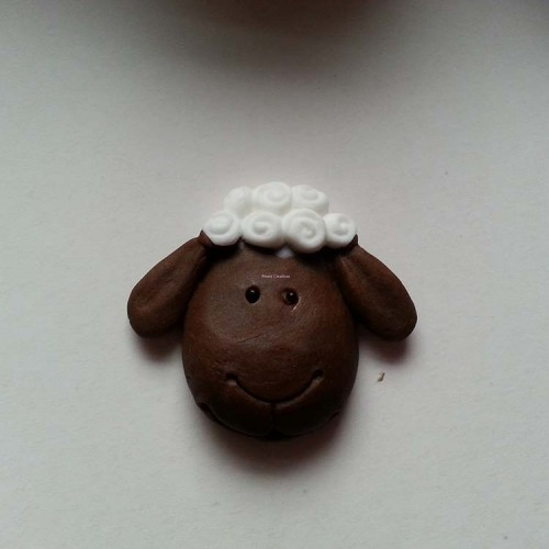 Sheep Cupcake Topper Animals/Farm